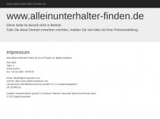 Screenshot der Domain alleinunterhalter-finden.de