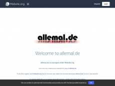 Screenshot der Domain allemal.de