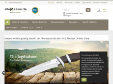Screenshot der Domain allemesser.de