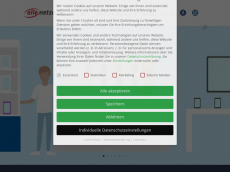 Screenshot der Domain allenetze.de