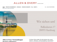 Screenshot der Domain allenovery-event.de