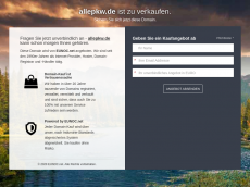 Screenshot der Domain allepkw.de
