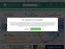 Screenshot der Domain allergate.de
