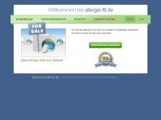 Screenshot der Domain allergie-fit.de
