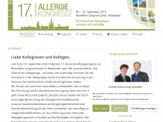 Screenshot der Domain allergie-kongress.de
