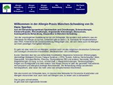 Screenshot der Domain allergie-muenchen-schwabing.de