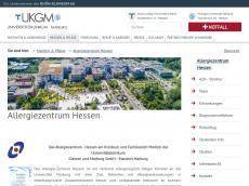 Screenshot der Domain allergie-zentrum-hessen.de