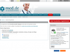 Screenshot der Domain allergieforum.de