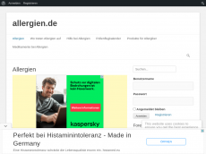 Screenshot der Domain allergien.de