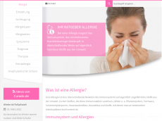 Screenshot der Domain allergieratgeber.com