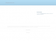 Screenshot der Domain allergiezentrum.de