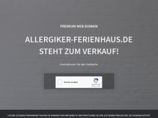 Screenshot der Domain allergiker-ferienhaus.de