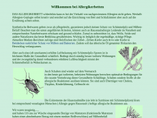 Screenshot der Domain allergikerbetten.de