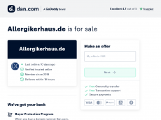 Screenshot der Domain allergikerhaus.de