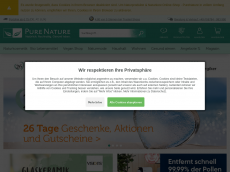 Screenshot der Domain allergikerkaufhaus.de