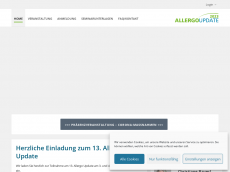 Screenshot der Domain allergo-update.com