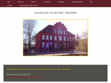 Screenshot der Domain allergrundschule.de