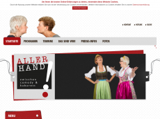 Screenshot der Domain allerhand-kabarett.de