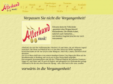 Screenshot der Domain allerhandmusik.de