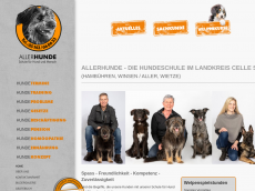 Screenshot der Domain allerhunde.de