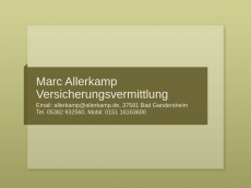 Screenshot der Domain allerkamp.de