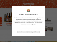 Screenshot der Domain allersheimer.de