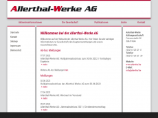 Screenshot von allerthal.de