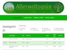Screenshot von allerweltsgruen.de
