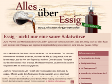 Screenshot der Domain alles-essig.de
