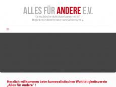 Screenshot der Domain alles-fuer-andere.de