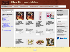 Screenshot der Domain alles-fuer-den-helden.de