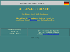 Screenshot der Domain alles-geschaeft.de