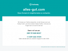 Screenshot der Domain alles-gut.com