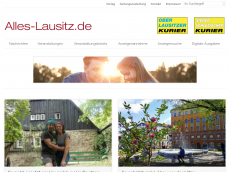Screenshot der Domain alles-lausitz.de
