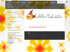 Screenshot der Domain alles-makulatur.de