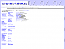 Screenshot der Domain alles-mit-rabatt.de