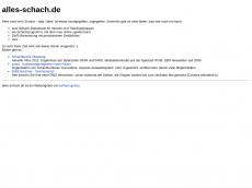 Screenshot der Domain alles-schach.de
