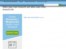 Screenshot der Domain alles-was-man-braucht.de