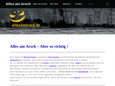 Screenshot der Domain allesamarsch.de