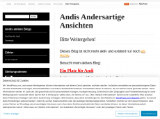 Screenshot der Domain allesandi.wordpress.com