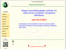 Screenshot der Domain allesbauer.de