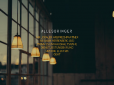 Screenshot der Domain allesbringer.de