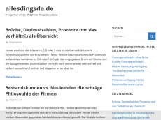 Screenshot der Domain allesdingsda.de