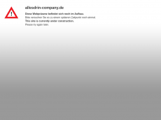 Screenshot der Domain allesdrin-company.de