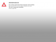 Screenshot der Domain allesfairtrade.de