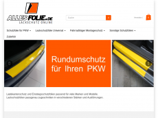 Screenshot der Domain allesfolie.de