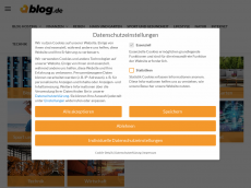 Screenshot der Domain allesfreddyoderwas.blog.de