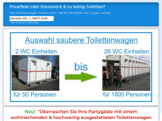 Screenshot der Domain allesfuerpartys.de