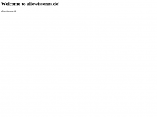 Screenshot der Domain allewissenes.de