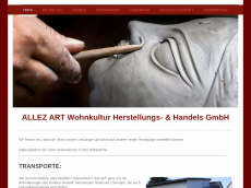 Screenshot der Domain allezart.de